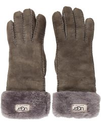 UGG - Suede Shearling-trimmed Gloves - Lyst