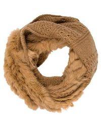 Diane von Furstenberg - Fur Infinity Scarf W/ Tags - Lyst