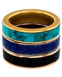Pamela Love - Inlay Stack Ring Set Of 3 Gold - Lyst