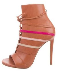 Ruthie Davis - Courtney Peep-toe Booties W/ Tags Multicolor - Lyst