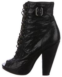 Givenchy - Peep-toe Platform Ankle Boots - Lyst