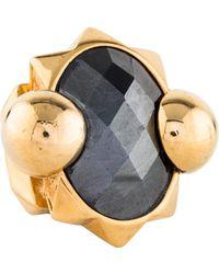 Roberto Cavalli - Hematine Cocktail Ring Gold - Lyst