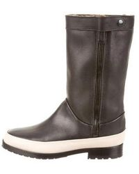 Newbark - Round-toe Shearling Trimmed Boots - Lyst