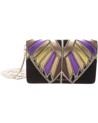 Givenchy - Pandora' Egyptian Wing Patchwork Leather Chain Wallet W/ Tags Black - Lyst