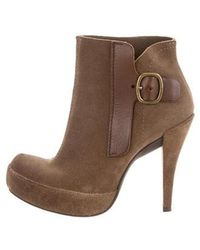 Pedro Garcia - Suede Pointed-toe Booties Neutrals - Lyst