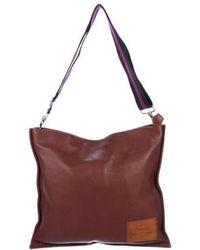 Vivienne Westwood - Pebbled Leather Messenger Bag Brown - Lyst