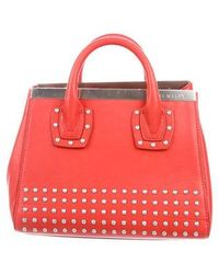 Thomas Wylde - Leather Studded Satchel Silver - Lyst