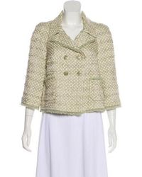 Chanel - Polka Dot Double-breasted Jacket - Lyst