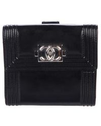 Chanel - Boy Compact Wallet Black - Lyst