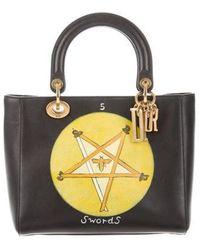 6dce5f105fad Dior - 2018 Swords Motherpeace Tarot Medium Lady Bag Black - Lyst