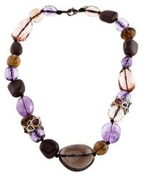 Alexis Bittar - Multistone Bead Strand Necklace Gold - Lyst