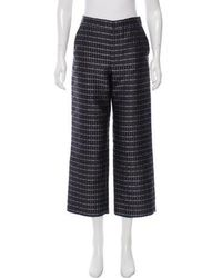 SUNO - Striped Satin Pants - Lyst