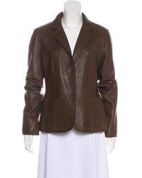MICHAEL Michael Kors - Michael Kors Notch-lapel Leather Jacket - Lyst