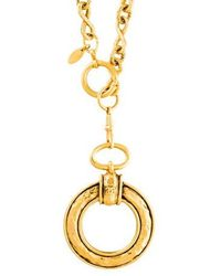 Chanel - Magnifying Glass Pendant Necklace Gold - Lyst