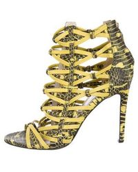 Jason Wu - Embossed Caged Sandals Yellow - Lyst