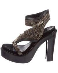 17968a8373ff Lyst - Givenchy Suede Platform Pumps Black in Metallic