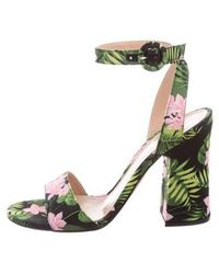 Gianvito Rossi - Satin Embellished Sandals - Lyst