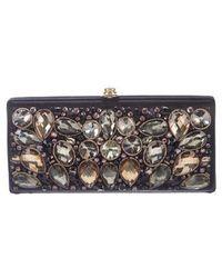 Temperley London - Crystal-embellished Satin Clutch Black - Lyst
