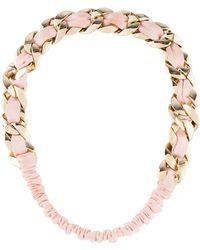 Chanel - Woven Link Headband Pink - Lyst