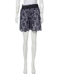 Chanel - High-rise Lace Shorts Navy - Lyst