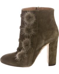 Aquazzura Suede Fur-Accented Ankle Boots classic sale online free shipping store sale top quality pick a best shopping online high quality APJD81c3