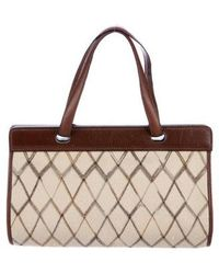 Missoni - Leather-trimmed Handle Bag Tan - Lyst