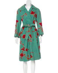 Dries Van Noten - Embellished Long Coat Green - Lyst