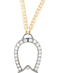 Lulu Frost - Equine Pendant Necklace Gold - Lyst