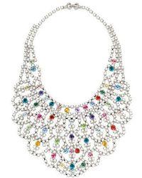 Tom Binns - Melody Of Life Bib Necklace Silver - Lyst