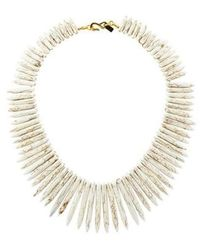 Kenneth Jay Lane - Resin Spike Collar Necklace Gold - Lyst