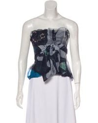 e6631fc84b Lyst - Christian Lacroix Silk Embroidered Top in Black