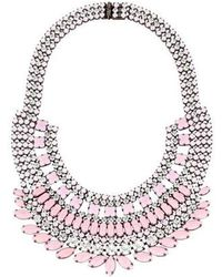 Tom Binns - Neopolitano Crystal Collar Necklace Pink - Lyst