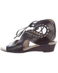 Proenza Schouler - Grommet Wedge Sandals - Lyst