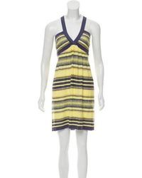 83609bd12dd6 Lyst - M Missoni Striped Knit Dress in Pink