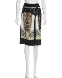Roberto Cavalli - Silk Knee-length Skirt - Lyst