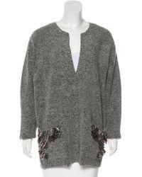 By Malene Birger - Wool Embellished Sweater Grey - Lyst