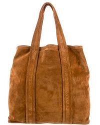 Pierre Hardy - Suede Tote Bag Silver - Lyst
