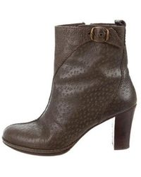 Henry Beguelin - Leather Ankle Boots Olive - Lyst