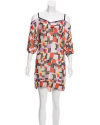 CoSTUME NATIONAL - Printed Silk Dress Multicolor - Lyst