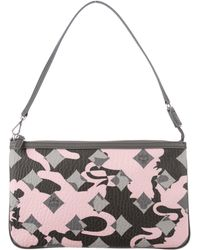 MCM - Printed Grained Leather Clutch W/ Tags Pink - Lyst