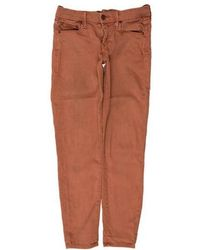 Mother - The Looker Cropped Low-rise Jeans Orange - Lyst
