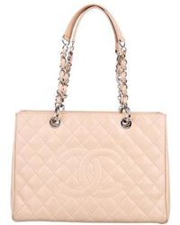 Chanel - Caviar Grand Shopping Tote Beige - Lyst