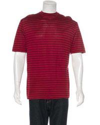 Lanvin - Striped T-shirt Red - Lyst