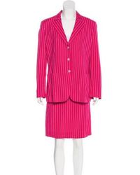 Boutique Moschino - Striped Knee-length Skirt Suit - Lyst