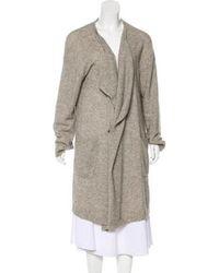 Pas De Calais - Wool Blend Oversized Cardigan Grey - Lyst