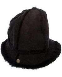 UGG - Shearling-trimmed Suede Hat - Lyst