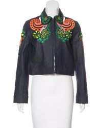 Holly Fulton - Denim Embroidered Jacket - Lyst