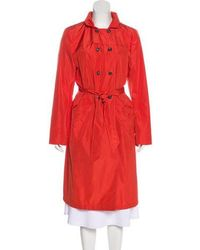 Piazza Sempione - Double-breasted Long Coat Orange - Lyst