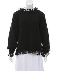 Isabel Marant - Fringe-trimmed Long Sleeve Sweater - Lyst