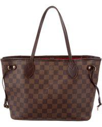 Louis Vuitton - Damier Ebene Neverfull Mm Brown - Lyst